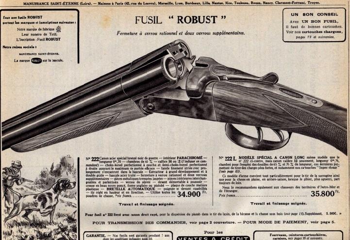 Qui chasse avec ou est possesseur d'un robust Manufrance ? 29501810