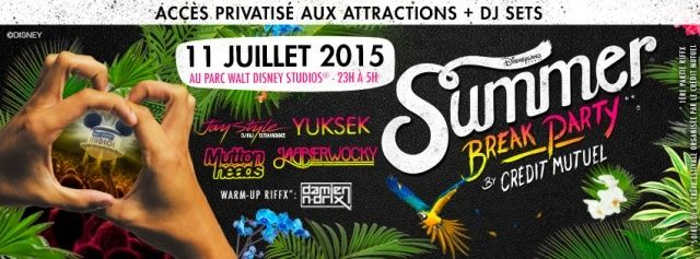 Le Crédit Mutuel et Disneyland Paris lancent la Summer Break Party Summer10