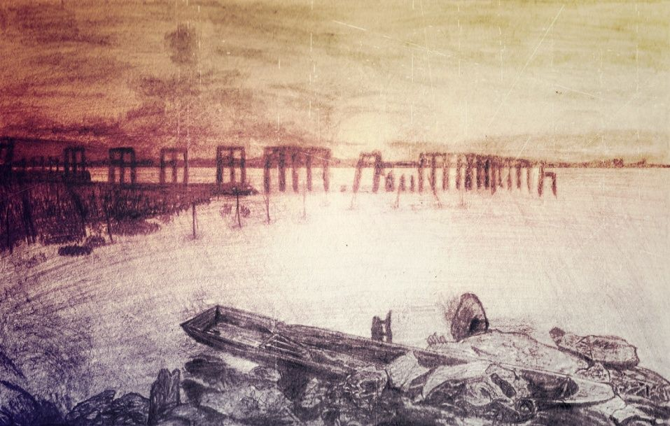 Laguna de Bay, Laguna-Los Banos Sketch + Color Laguna10