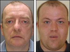 Paedophiles on 'Most Wanted' list Jason Waller and Dean Barnes _4687310