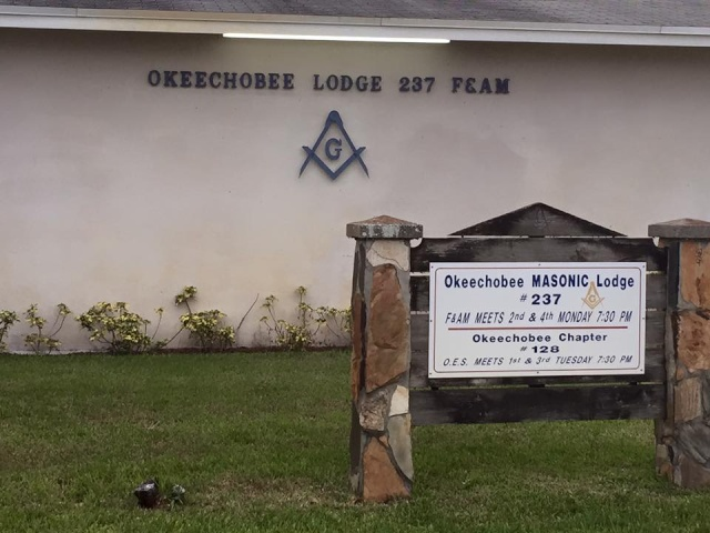 Grand Master Boring's first official visit to District #30 in Okeechobee, Florida Oke111