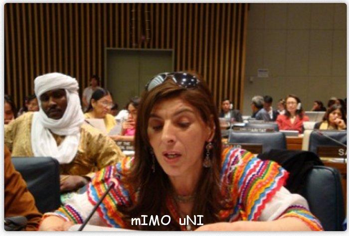 Kamera , une femme a la tete du Congrès mondial Amazigh Camera10