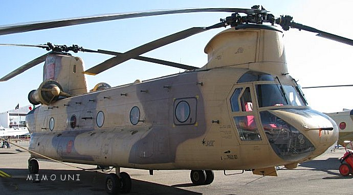 Helico de combat chinook Maroc Chinoo10