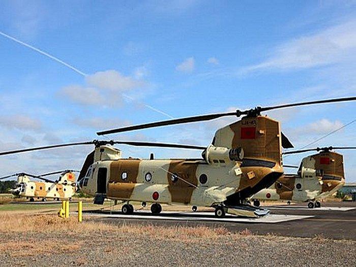 Helico de combat chinook Maroc Chinoo11