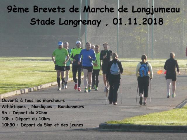1-11-2018  Longjumeau  Brevets de marche Brevet10