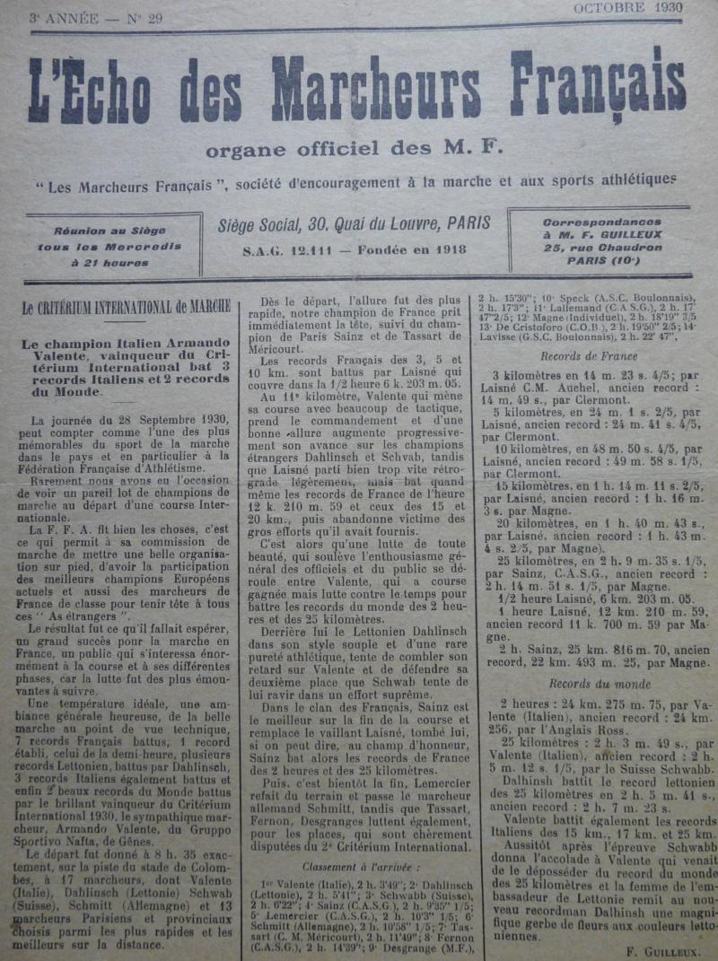 L'écho des Marcheurs - Oct 1930 P1270310