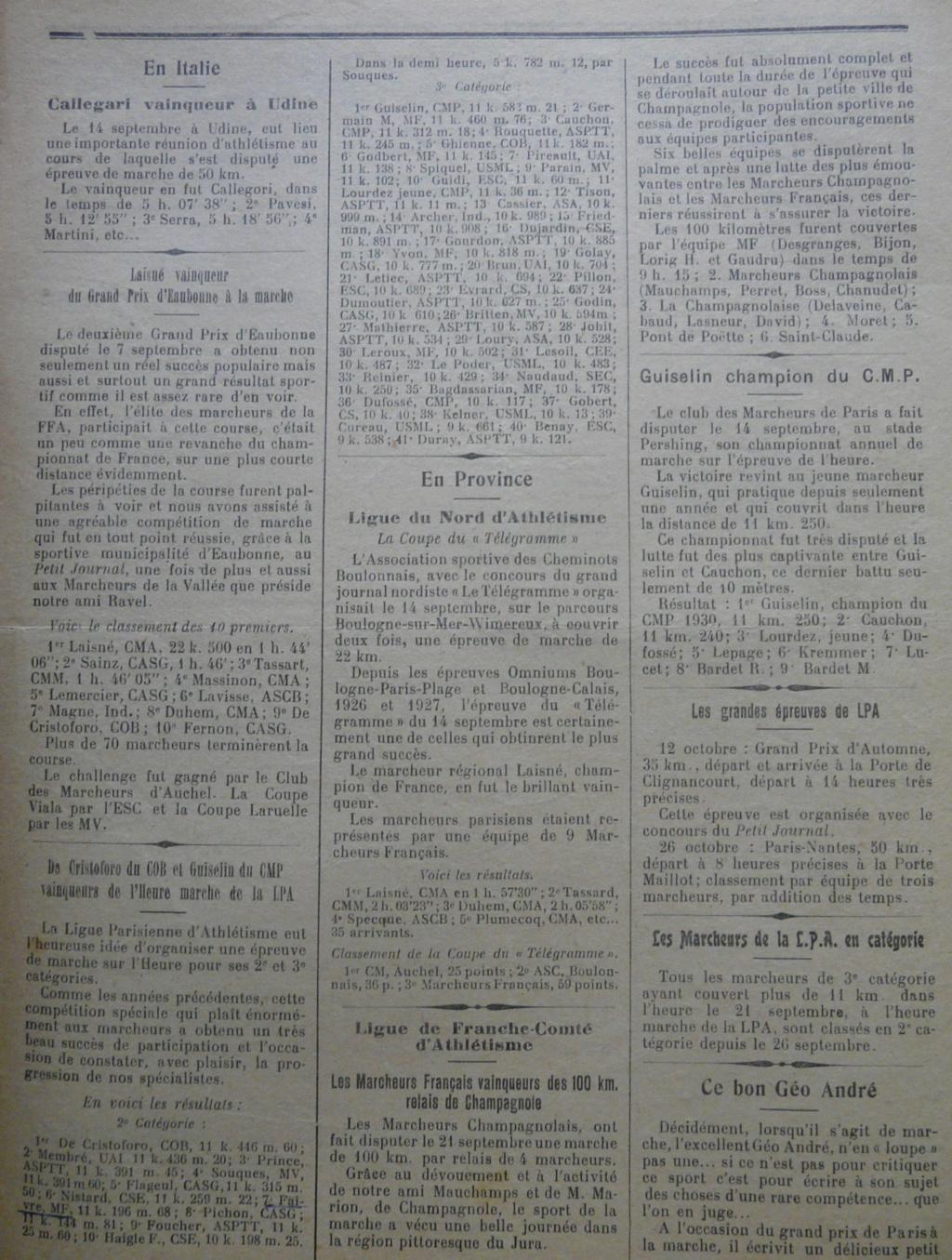 L'écho des Marcheurs - Oct 1930 P1270313