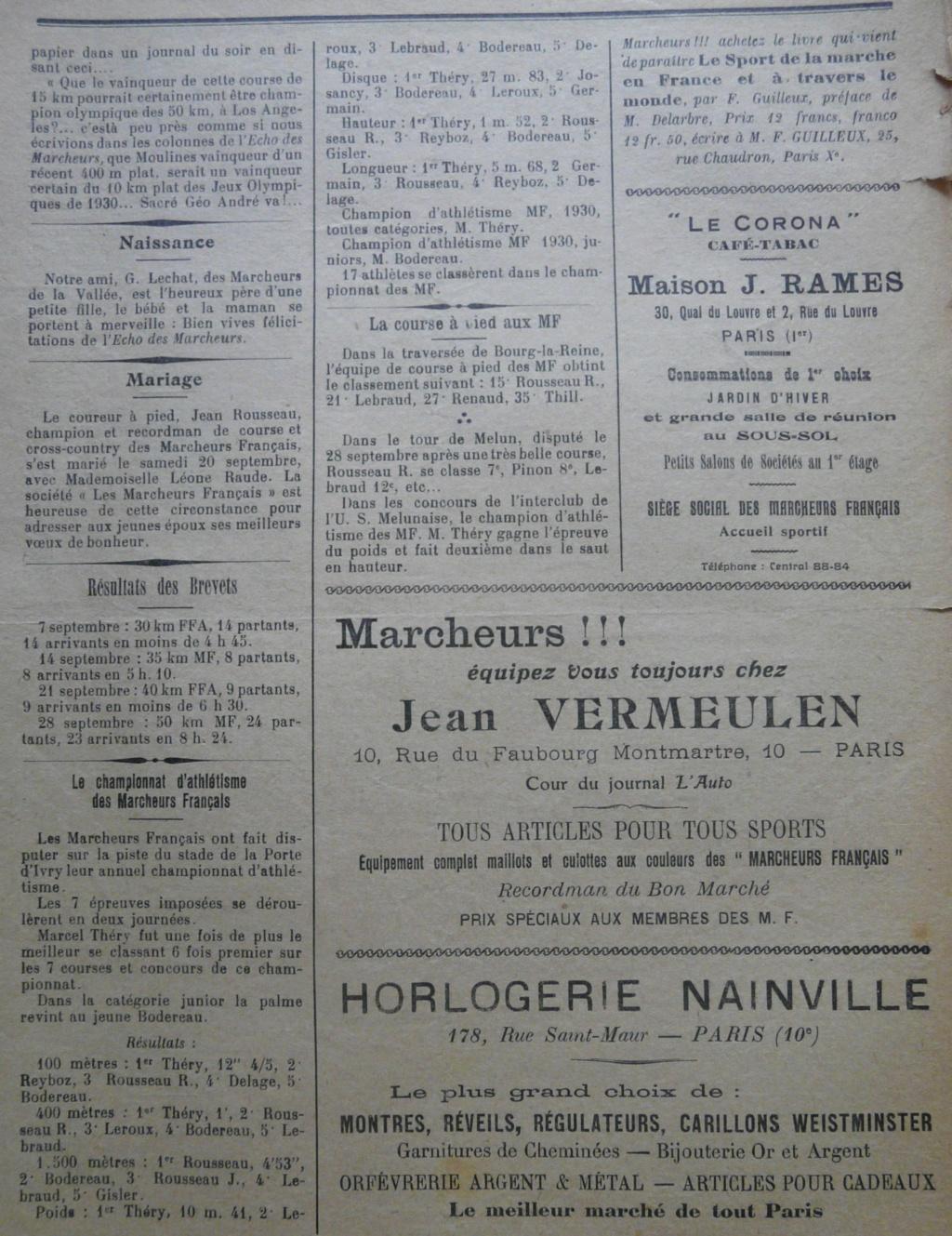 L'écho des Marcheurs - Oct 1930 P1270315