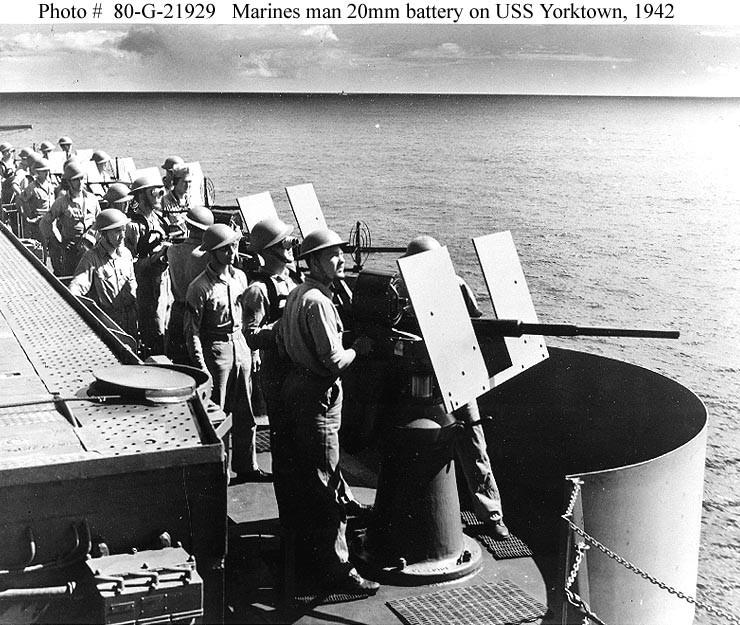 Les porte-avions americains Yorkto16