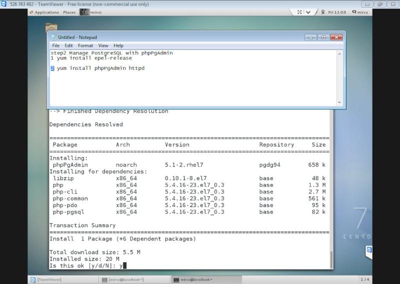 Guide Installing PostgreSQL 9.4 And phpPgAdmin In CentOS 7 12-06-24