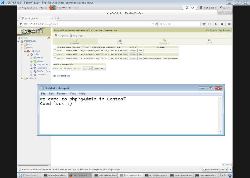 Guide Installing PostgreSQL 9.4 And phpPgAdmin In CentOS 7 13-06-19