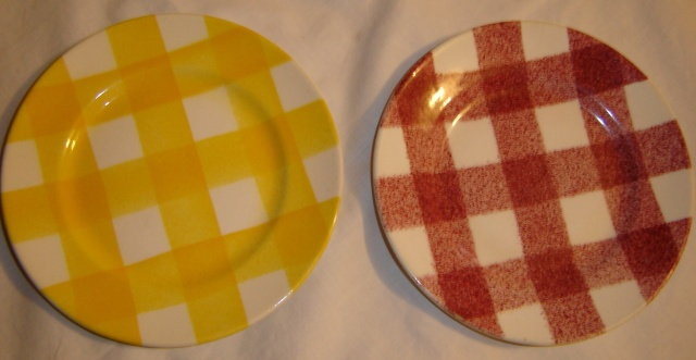 dinner - Checked pattern C.L. Tableware Bread_12