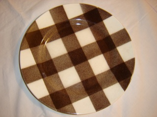 dinner - Checked pattern C.L. Tableware Large_10