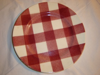 dinner - Checked pattern C.L. Tableware Large_11