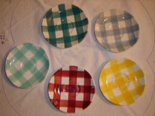 dinner - Checked pattern C.L. Tableware Saucer10