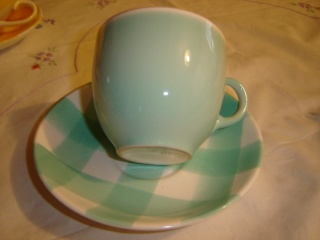 dinner - Checked pattern C.L. Tableware Teal_b10