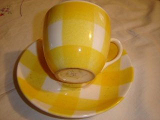 dinner - Checked pattern C.L. Tableware Yellow10