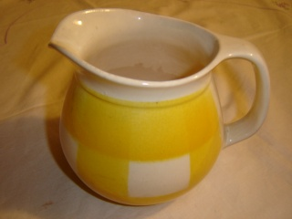 dinner - Checked pattern C.L. Tableware Yellow11