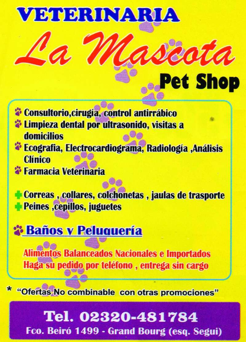 bourg - En Grand Bourg. Veterinaria La Mascota. Aviso_11