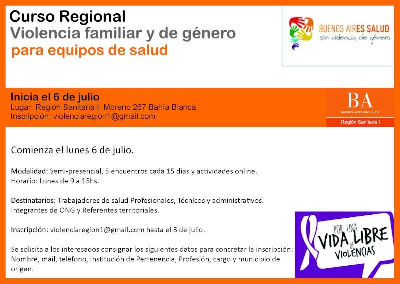 """Bahía Blanca: Curso Regional """"Violencia familiar y de Género para equipos de Salud"""". Curso_10"""