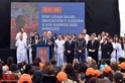 """BERAZATEGUI. Scioli: """"Llevaremos la experiencia de las UPA a todo el país"""". 00143"""