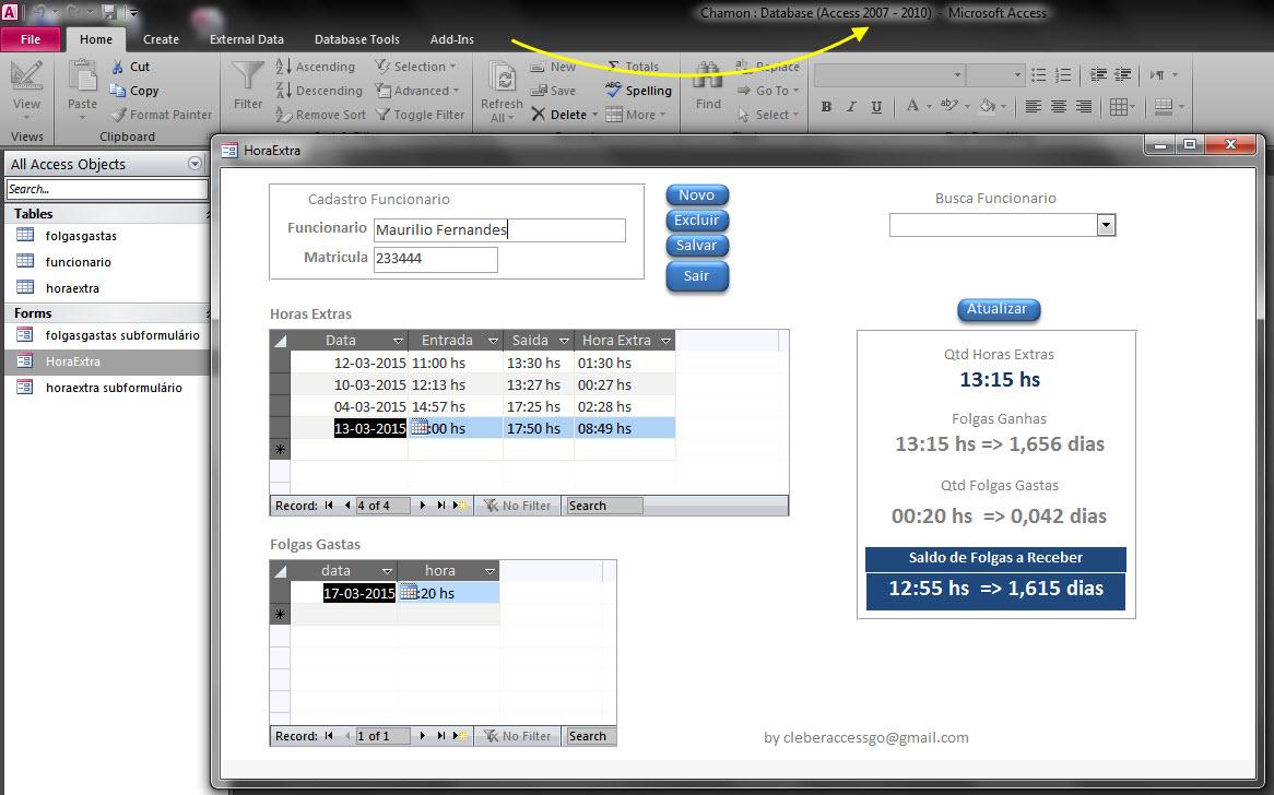 [Resolvido]Conversão de arquivo para Access 2007. Bd10