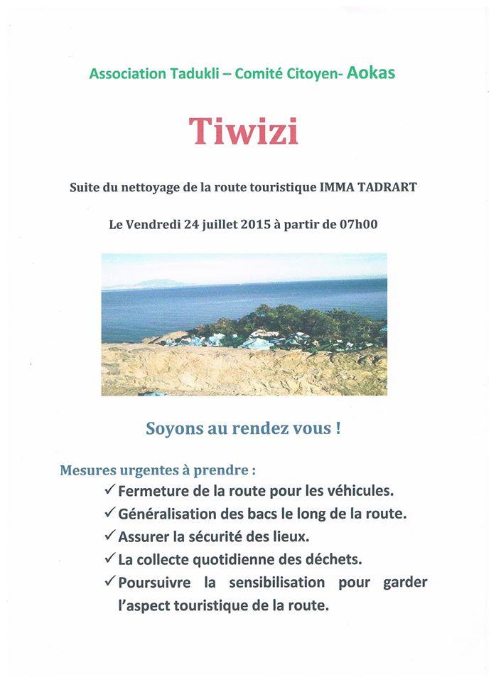 volontariat de nettoyage de la route du Cap  Aokas le 24 juillet 2015 Tiwizi10