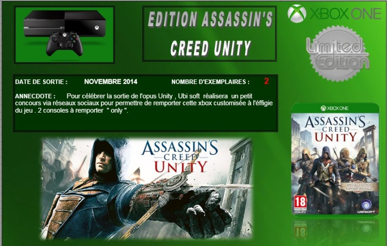 XBOX ONE : Edition ASSASSIN'S CREED UNITY  Assass10