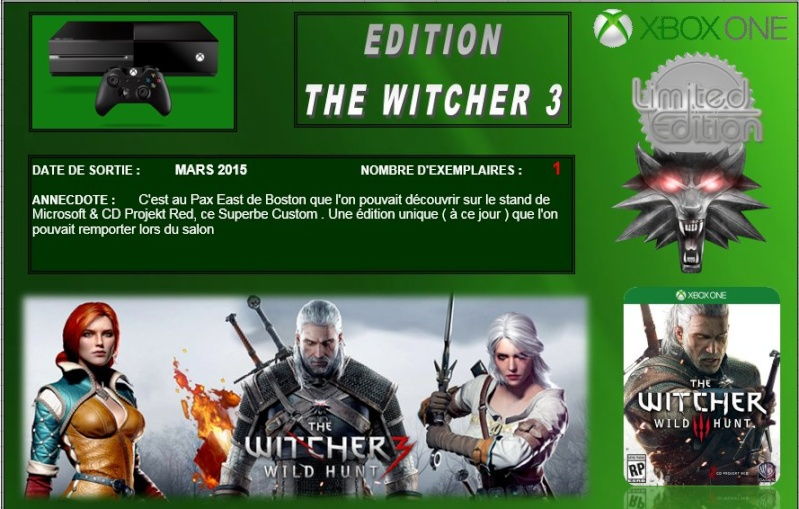 XBOX ONE : Edition THE WITCHER 3 Witche10