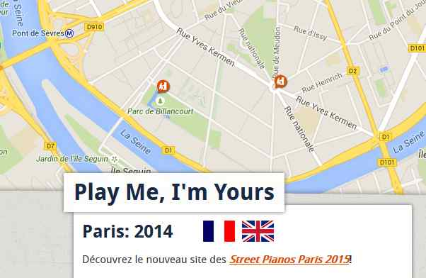 Play me, I'm Yours à Boulogne-Billancourt Clipbo32