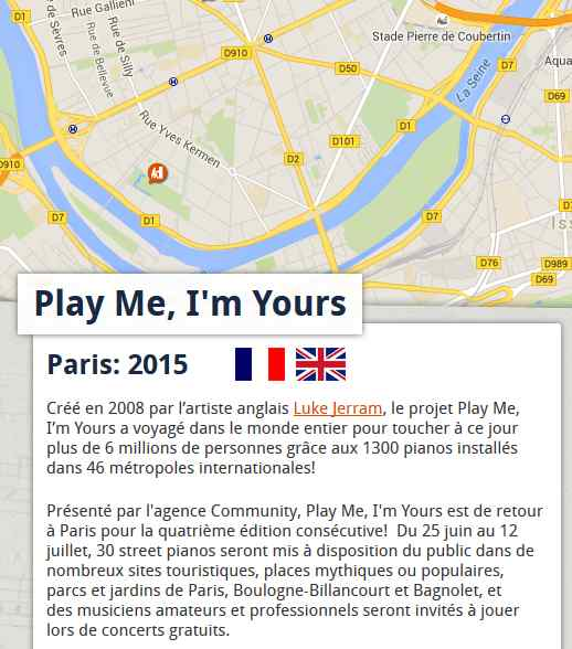 Play me, I'm Yours à Boulogne-Billancourt Clipbo33