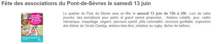 Fête des associations du Pont-de-Sèvres Clipbo35