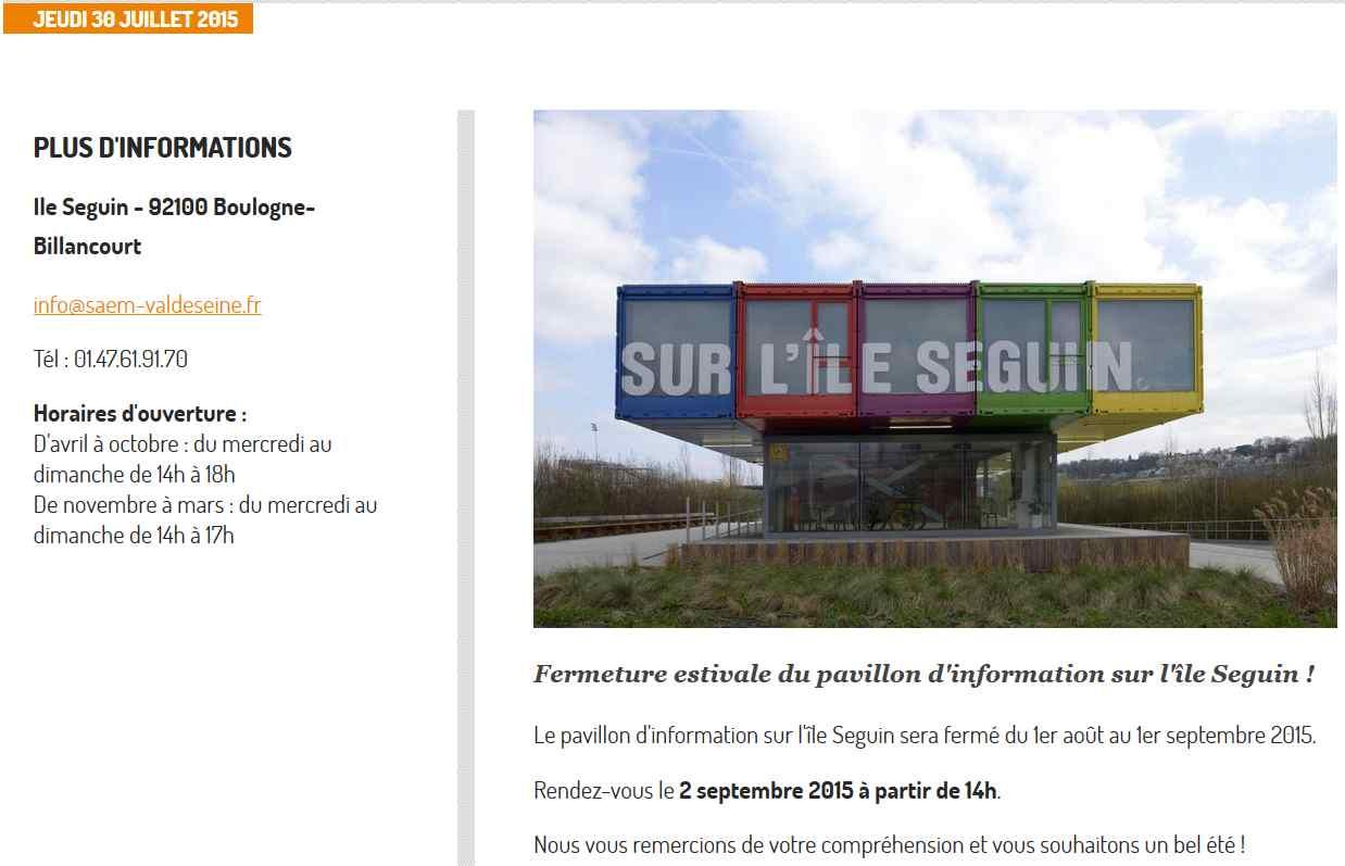Pavillon d'informations de la SAEM / SPL sur l'île Seguin (et le trapèze) Clipbo94