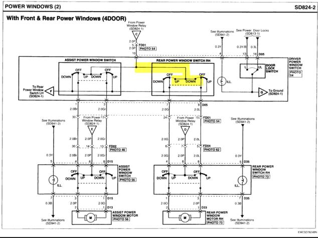 Trouble à résoudre: Accent 2007, vitre électrique arr dr ne fonctionne pas 2015-010
