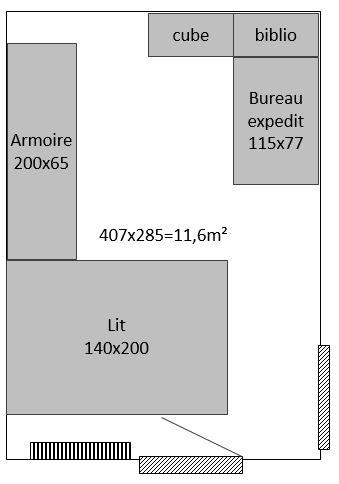 aménagement d'une chambre parents + bébé de 11,6m² Plan_c10