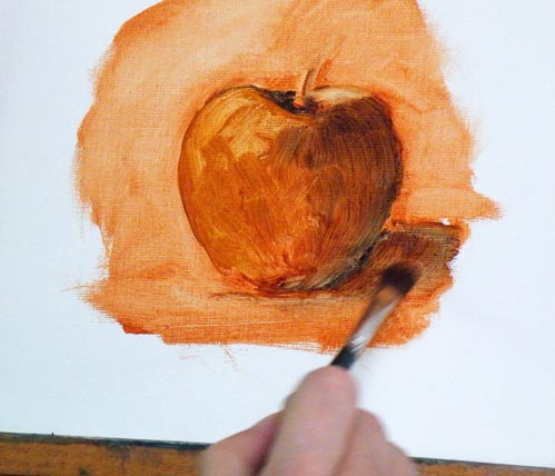 Paint Thinner and Glazing Techniques Apple410