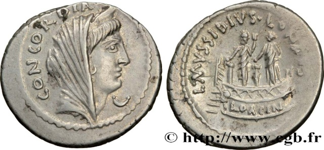 Denier République Gens Mussidia Lucius Mussidius Longus Brm_3410