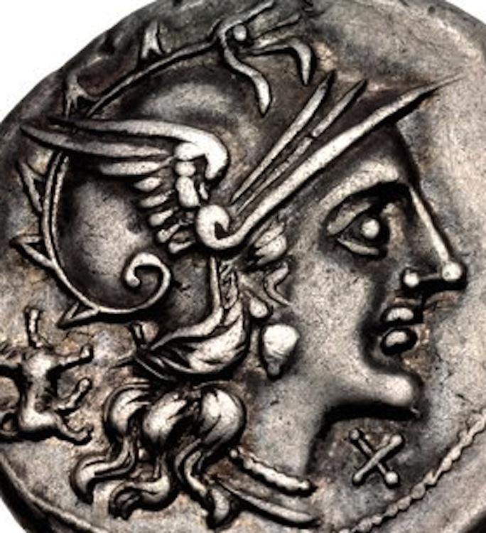 Nouveau denier de la gens Antestia Roma12