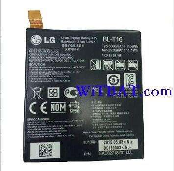 LG G Flex 2 H955 Battery BL-T16 EAC62718201 ML-LG160 Ml-lg111