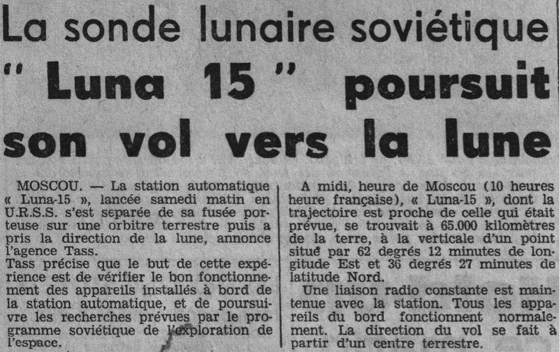 13 juillet 1969 - Luna 15, le joker soviétique 69071610