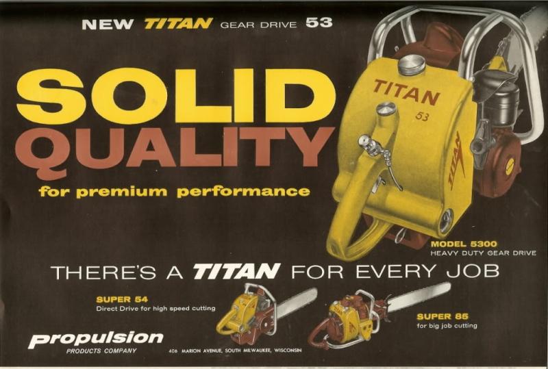 titan chainsaws Titan511