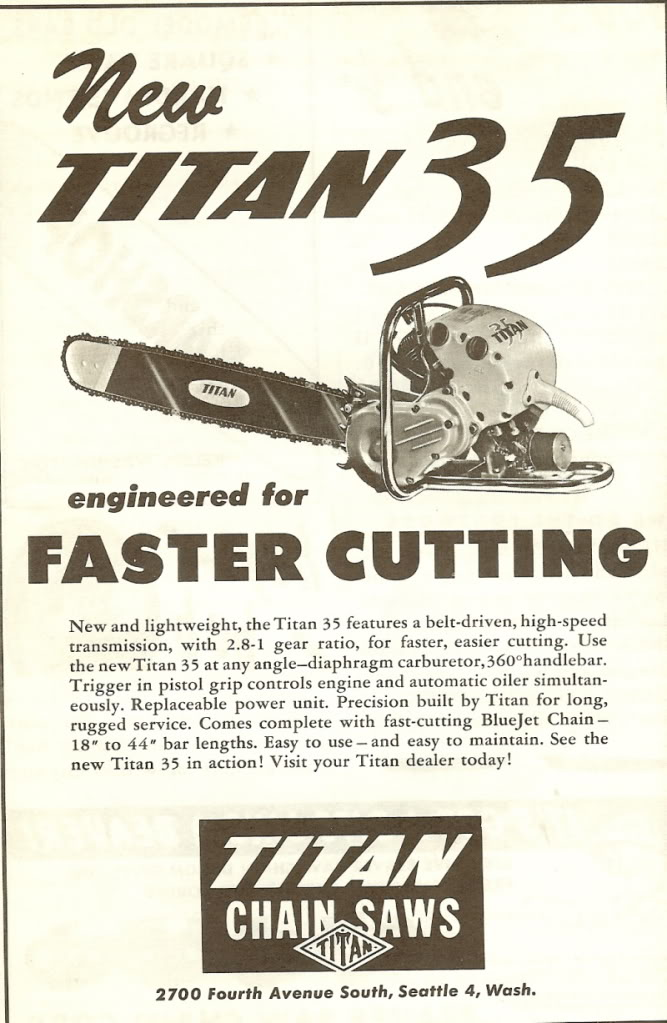 titan chainsaws Titan512