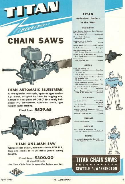 titan chainsaws Titanb10