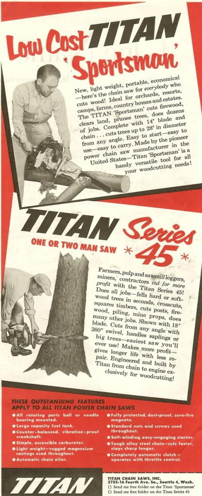 titan chainsaws Titanf10