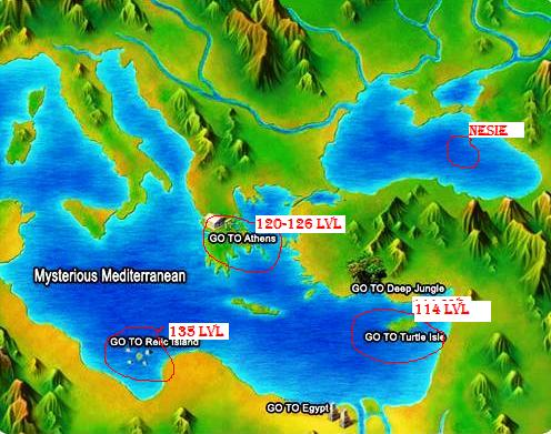 World Map / Trainin area For Reborns 212