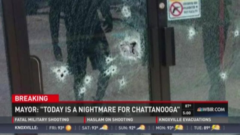 Military shot and killed in Chattanooga at two separate locations.  Lone wolf terrorist??  Shooter Dead Images10
