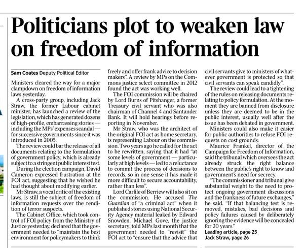 New threat to Freedom of Information Act Sssfoi10