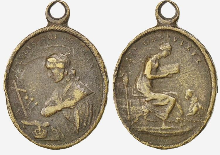 Médaille Ste-Geneviève & St-Louis / XIXème 68889_10