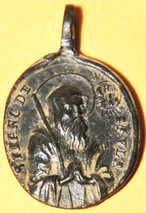 Médaille St-François-de-Paule & St-Bernard-de-Menthon - fin XVII/XVIIIème Dsc_0112
