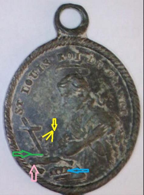 Médaille Ste-Geneviève & St-Louis / XIXème Image211